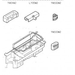 Rubber hinge assembly for...