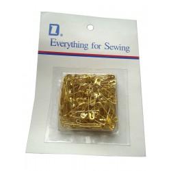 Steel safety pins (Gold...