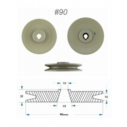 CLUTCH MOTOR PULLEY ISM -...