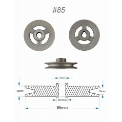 Pulley for clutch motor,...